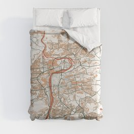 Prague City Map of Czech Republic - Bohemian Comforters