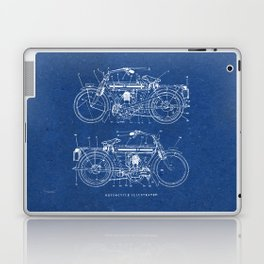 Motorcycle blueprint Laptop & iPad Skin