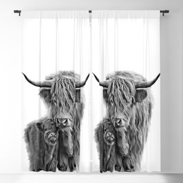 Highland Cow and The Baby Blackout Curtain