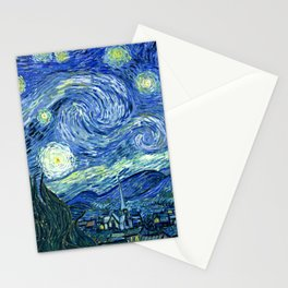 Vincent van Gogh Starry Night 1889 Stationery Cards