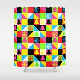 Check Out Christmas Shower Curtain