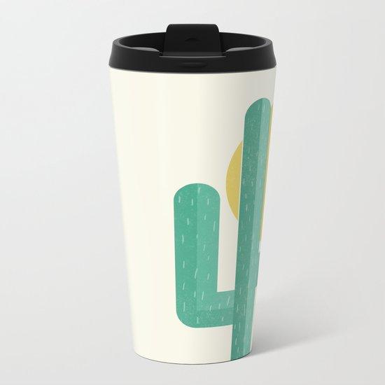 Desert Cactus Metal Travel Mug