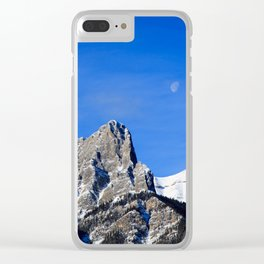 Moon over the Rockies Clear iPhone Case