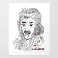 einstein Art Prints featuring Einstein by Ina Spasova puzzle