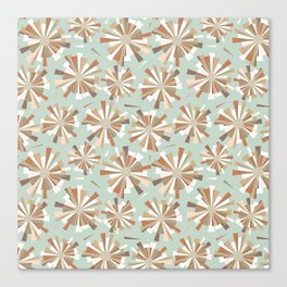 Shattered fragments mint green background Canvas Print