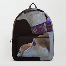Greyhound Portrait Backpack