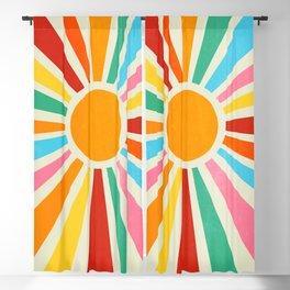 Retro Sunrise: Rainbow Edition Blackout Curtain