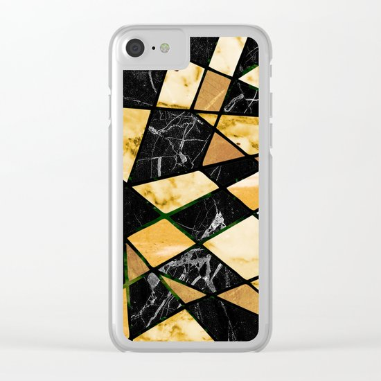 Abstract #460 Marble and Metal Clear iPhone Case