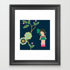 little miss zeesha Framed Art Print