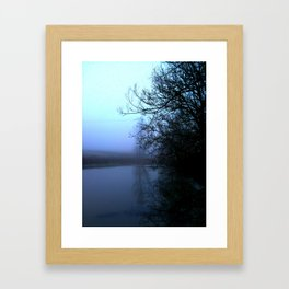 By the lake. Framed Art Print