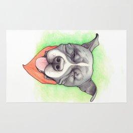 Pitbull - Love is blind - Stevie the wonder dog Rug