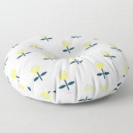 Simple yellow flower pattern Floor Pillow
