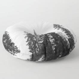 Deep in the Forest of Yosemite Floor Pillow