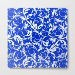 Sapphire Blue Swirls Metal Print