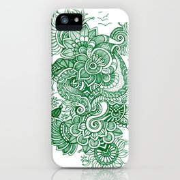Green Doodle iPhone Case