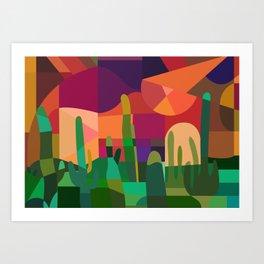 Botanical Wonderland - Cactus Garden Bybrije Art Print