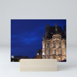 Louvre At Night 2 Mini Art Print