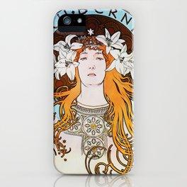 Alphonse Mucha Sarah Bernhardt Vintage Art Nouveau iPhone Case