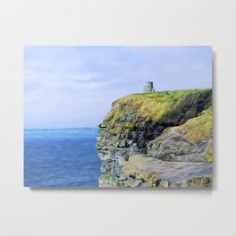 O'Brien's Tower on The Cliffs of Moher Metal Print