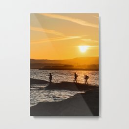 holland/ogden point sunset Metal Print
