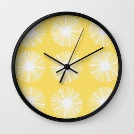 Retro Spectrum Light Yellow Wall Clock