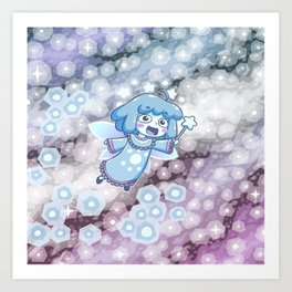 Blue Dwarf Star Fairy Art Print