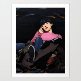 BTS SUGA SPRING DAY FANART Art Print