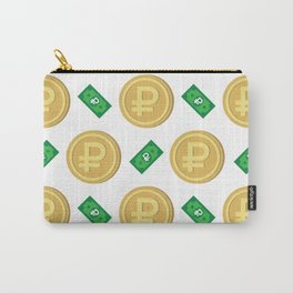 Russian ruble pattern background. Carry-All Pouch