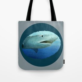 Shark Swimming by Fish in the Ocean Tote Bag