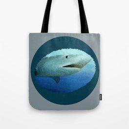 Shark Swimming by Fish in the Ocean Tote Bag