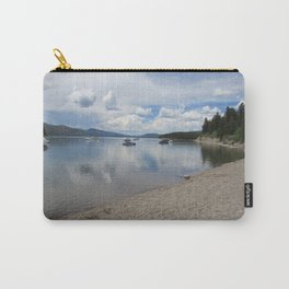 Lake at Yellowstone National Park With Boats Carry-All Pouch