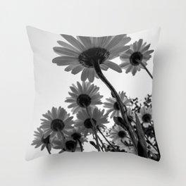 Below The Daisies Throw Pillow