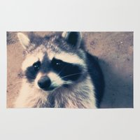 racoon Area & Throw Rugs featuring racoon by oslacrimale
