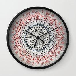 Granite Mandala Wall Clock