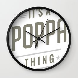 Poppa-Thing-T-shirts-Gifts Wall Clock