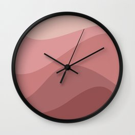 Abstract Color Waves - Pink Palette Wall Clock