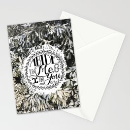 Abide in Me  |  John 15:4 Stationery Cards