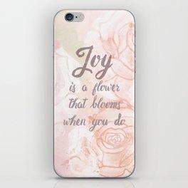 Joy Blooms iPhone Skin