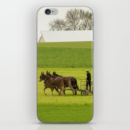 Young Amish Farmer iPhone Skin