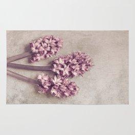 Lovely pink Hyacinths Rug