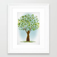 tree of life Framed Art Prints featuring Life tree by Michelle Behar