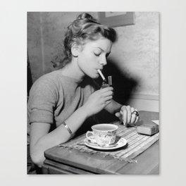 Vintage Morning Routine Canvas Print