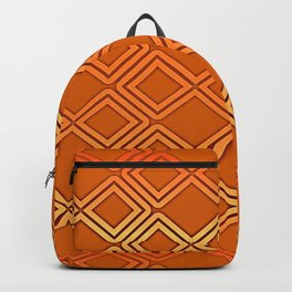 ELECTRIC ORANGE Geometric Diamonds #society6 #shapes Backpack