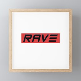 Rave Techno Festival gift idea Framed Mini Art Print