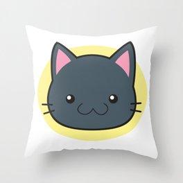 Love Cats: Grey Shorthair Cat Throw Pillow