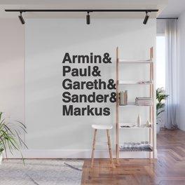 Trance Kings, Armin, Paul, Gareth, Sander and Markus  - Designed for Trance lovers (white version) Wall Mural