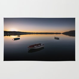 Sunrise over Knysna Lagoon in Western Cape, South Africa Rug