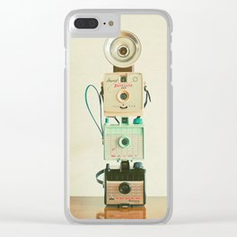 Tower of Cameras Clear iPhone Case
