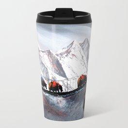 Herd Of Mountain Yaks Himalaya Travel Mug