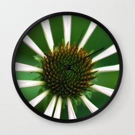 Green Echinacea Wall Clock